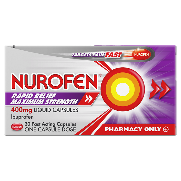 Load image into Gallery viewer, Nurofen Rapid Relief Maximum Strength 400mg 20's