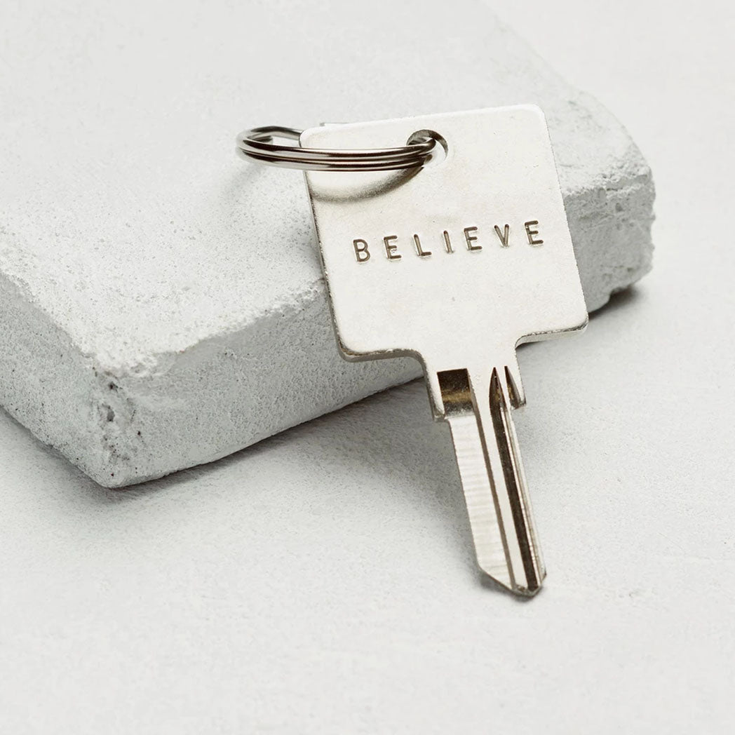 Load image into Gallery viewer, The Giving Keys The Original Key Chain - Silver - Believe