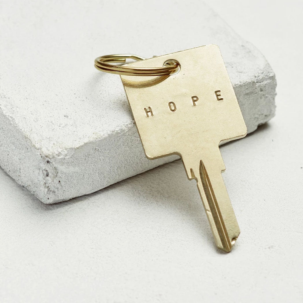 Load image into Gallery viewer, The Giving Keys The Original Key Chain - Gold - Hope