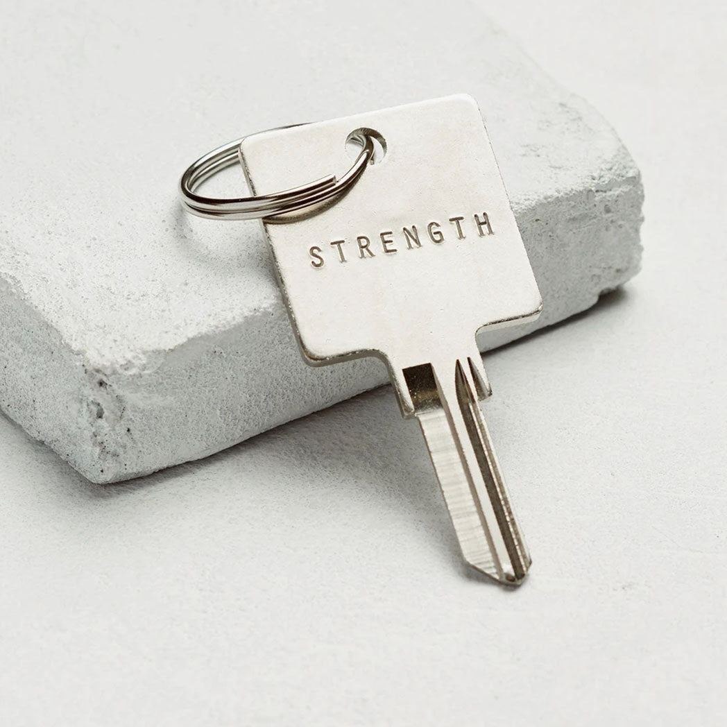 Load image into Gallery viewer, The Giving Keys The Original Key Chain - Silver - Strength