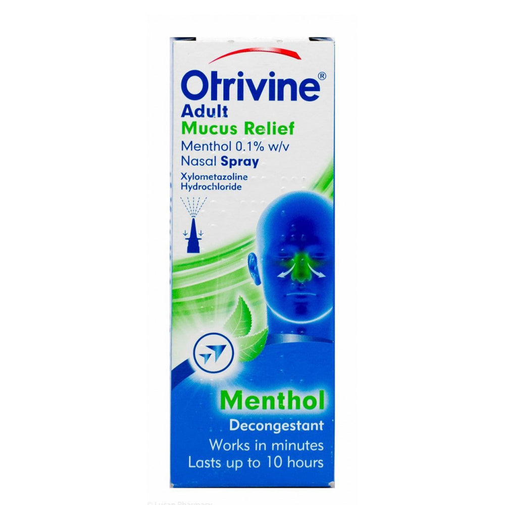 Otrivine® Adult Mucus Relief Menthol 0.1% w/v Nasal Spray – 10ml