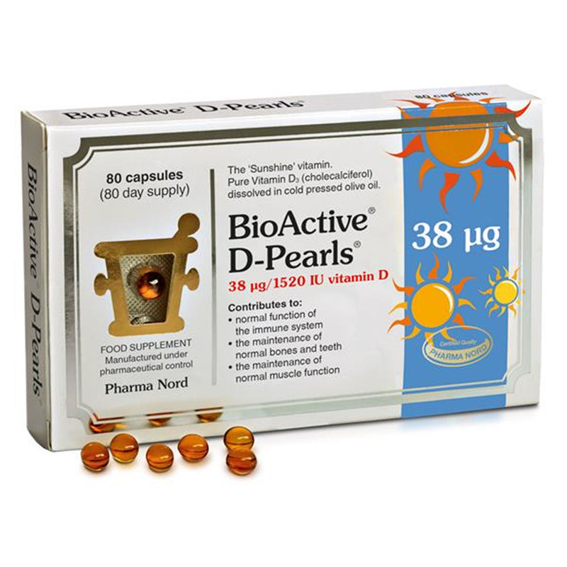 Pharma Nord BioActive Vitamin D Pearls 38UG 80's