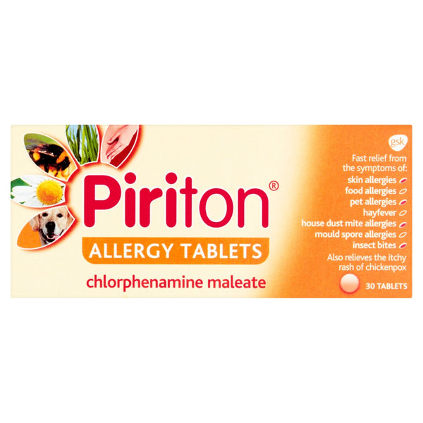 Piriton Antihistamine Allergy Relief Tablets 30s
