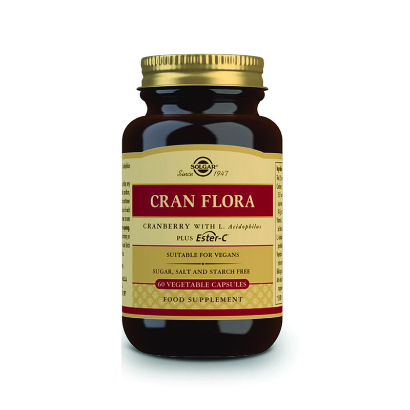 Solgar Cran Flora Vegetable Capsules 60s