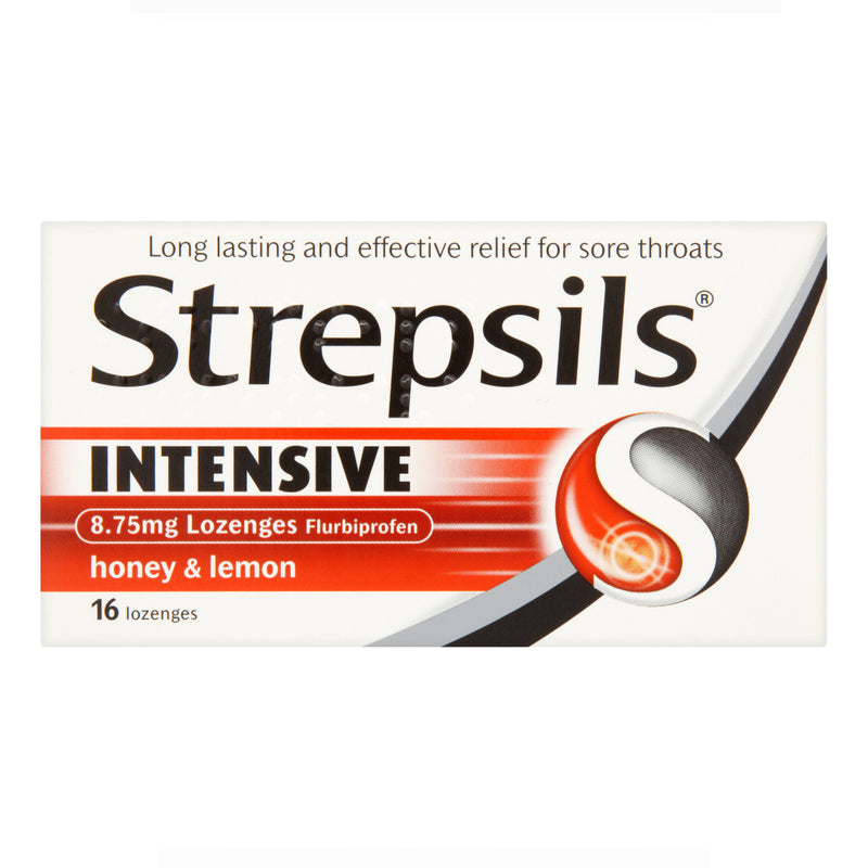 Strepsils Intensive 8.75mg Lozenges Flurbiprofen Honey & Lemon 16's