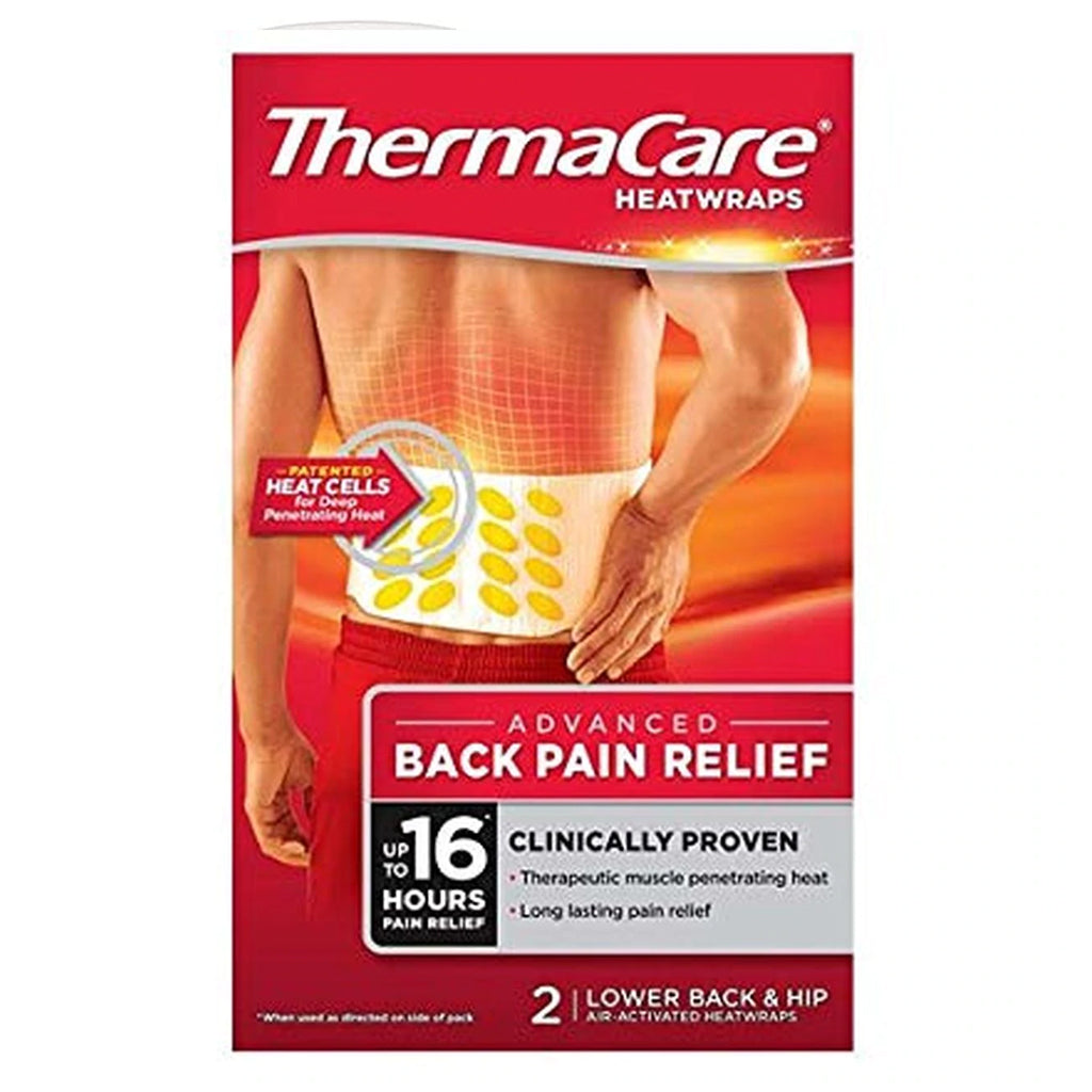 Thermacare Heat Wraps Pain Relief - Lower Back & Hip