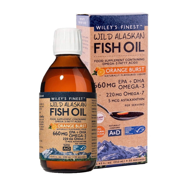 Wileys Finest Wild Alaskan Fish Oil Orange Burst 250ml