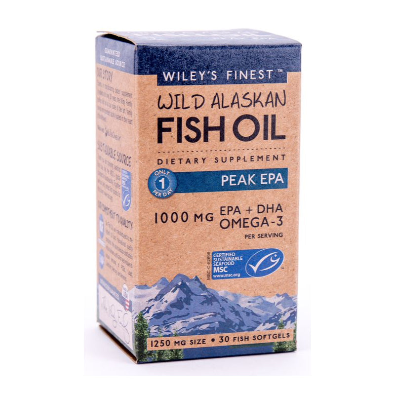 Load image into Gallery viewer, Wileys Finest Wild Alaskan Fish Oil Peak EPA Caps