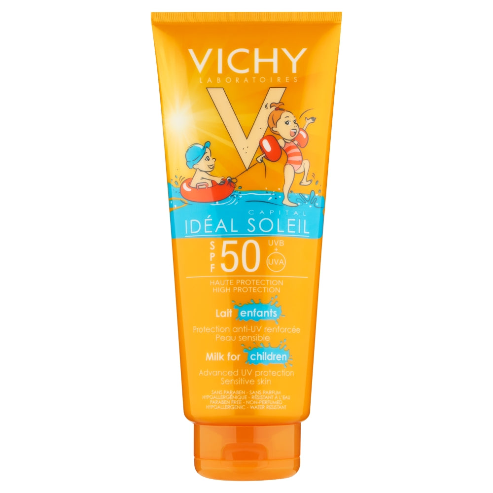 Load image into Gallery viewer, Vichy Ideal Soleil Kids Body Milk SPF50 300ml