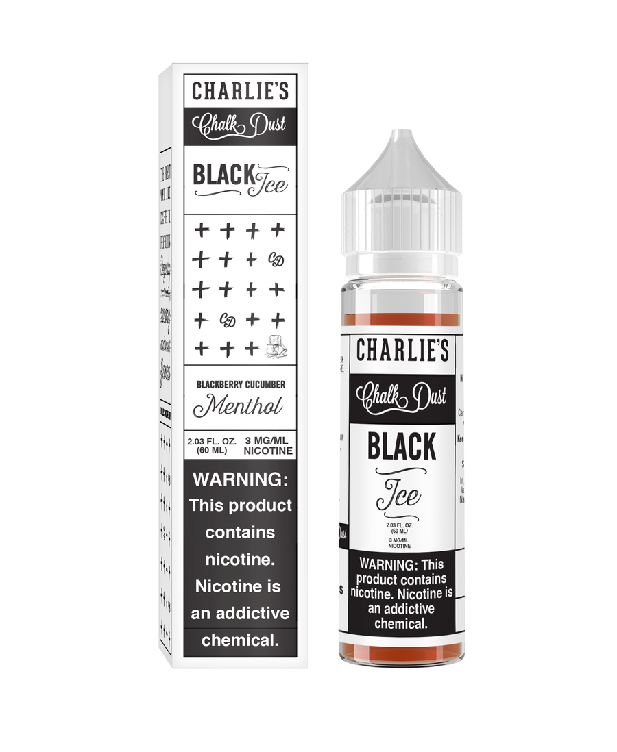 Charlie's Chalk Dust - Black & White -Black Ice Menthol