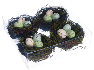 "1.7""Hx6.2""Wx6.2""L Bird's Nest (4 ea/acetate box) Mixed (pack of 12)"