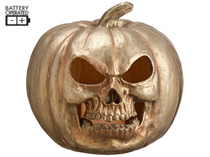 "10.5"" Battery Operated Jack-O-Lantern with Light Copper (pack of 1)"