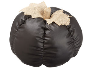 "10""Hx9.5""D Faux Leather Pumpkin Black Beige (pack of 2)"