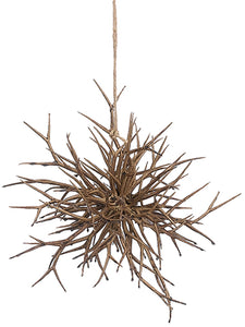 "10"" Twig Ornament  Light Brown (pack of 6)"