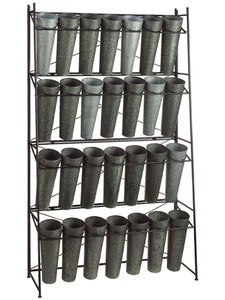 "72.5""Hx14.25""Wx40.5""L Metal Rack w/28 5.5""D x16""h Buckets  (pack of 1)"
