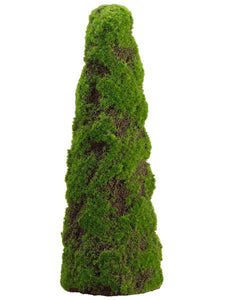 "20"" Moss Cone-Shaped Topiary  Green (pack of 2)"