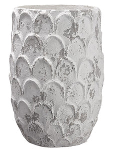 "20""Hx14""D Paper Mache Planter  Antique White (pack of 1)"