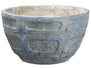 "8.25""Hx14""D Paper Mache Planter Antique Blue (pack of 1)"