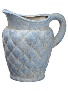 "9.5"" Terra Cotta Pitcher  Antique Blue (pack of 4)"