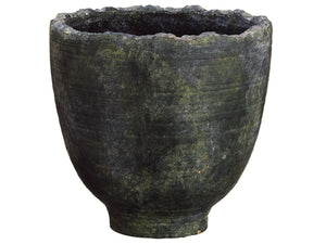 "10.2""Dx10.2""H Terra Cotta Footed Urn Gray Green (pack of 1)"