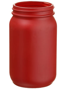 "6.5""Hx4""D Glass Vase  Red (pack of 32)"