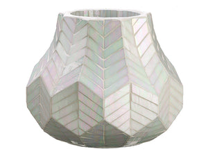 "14"" Pearlized Mosaic Container Iridescent (pack of 1)"