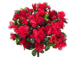 "14"" Water-Resistant Azalea Bush x13 RED (pack of 12)"