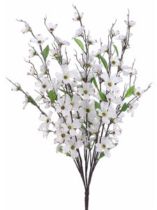 "27"" Dogwood Bush x5  White (pack of 12)"