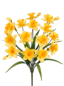 "21"" Daffodil Bush x14  Yellow (pack of 12)"