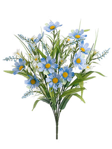 "20"" Daisy Mixed Bush x10  Blue (pack of 12)"