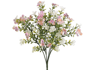"14"" Mini Forget-Me-Not Bush x7 Pink Cream (pack of 24)"