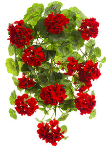 "22"" UV Protected Geranium Hanging Bush Red (pack of 6)"
