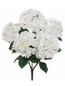 "21"" Hydrangea Bush x5  Cream (pack of 12)"