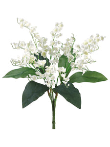 "16"" Lily of The Valley Bush x3 with 132 Flowers White (pack of 12)"