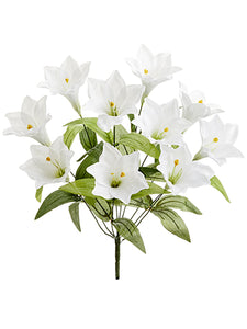 "20"" Easter Lily Bush x10  White (pack of 12)"