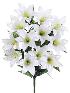 "21"" Easter Lily Bush x12  White (pack of 12)"