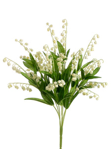 "17"" Lily of The Valley Bush  Cream (pack of 12)"