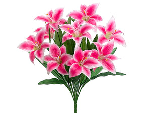 "22"" Lily Bush x9  Pink (pack of 12)"
