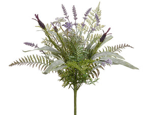 "20"" Lavender/Eucalyptus/Fern Bouquet Lavender Green (pack of 6)"