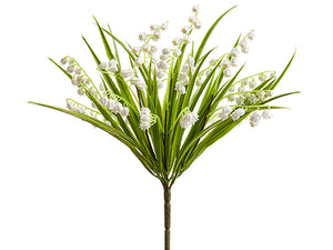 "12"" Lily of The Valley Bush  White (pack of 24)"