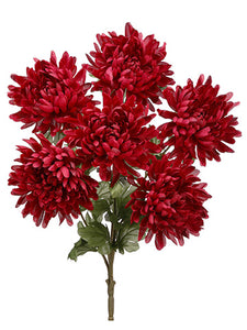 "25"" Ball Mum Bush x6  Burgundy (pack of 12)"