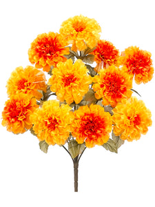 "17.5"" Marigold Bush x11  Yellow Gold (pack of 12)"