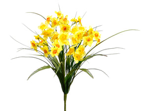"20.5"" Narcissur Bush  Yellow Yellow (pack of 12)"