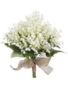 "12"" Lily of The Valley Bouquet White (pack of 6)"