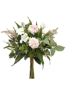 "18"" Dalhia/Sweetpea/ Waxflower Bouquet Pink White (pack of 6)"