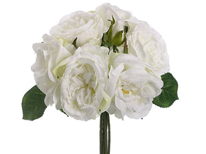 "10.5"" Rose Bouquet  White (pack of 12)"