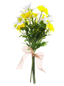 "20"" Daisy Bouquet  Yellow White (pack of 6)"