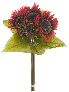 "13"" Sunflower Bouquet  Red (pack of 12)"