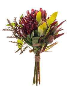 "11"" Protea Bouquet  Burgundy Mauve (pack of 6)"