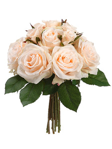 "11.5"" Rose Bouquet  Peach Cream (pack of 6)"